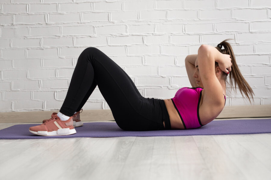 Woman doing crunches